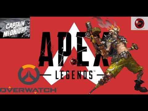 chillin with apex legends -xbox-, overwatch -xbox-, and a movie -Captain Midnight-