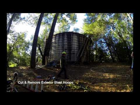 Old Redwood Water Storage Tank Removal