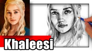 How to Draw Khaleesi from Game of Thrones - Daenerys Targaryen