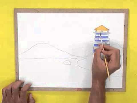 สอนศิลป์ตอนที่56 โคมไฟประภาคาร
