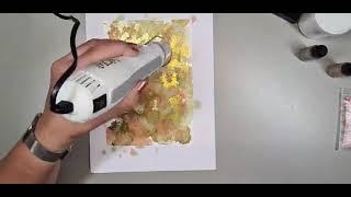 FB live - Diverse kaarten met alcohol inkt
