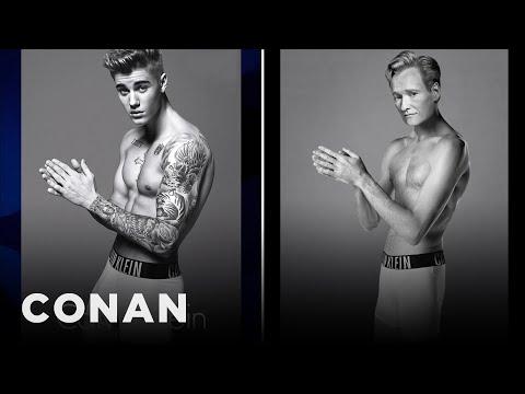 Justin Bieber's Calvin Klein Ad Controversy  - CONAN on TBS