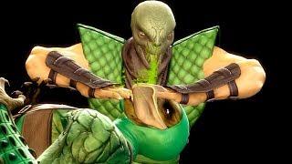 Mortal Kombat 9 - All Fatalities & X-Rays on Green Reptile Costume Mod 4K Ultra HD Gameplay Mods