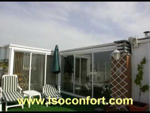 Cerramientos en ticos y terrazas isoconfort youtube for Casetas aluminio para terrazas