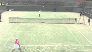 福岡国際女子テニス2006 準々決勝 Carly GULLICKSON VS チャン・ユンジャン