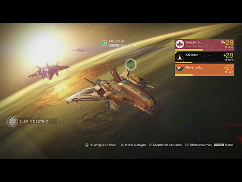 Destiny con Revenant - Difícil -  Asalto ocaso semanal LVL 28 EP 15