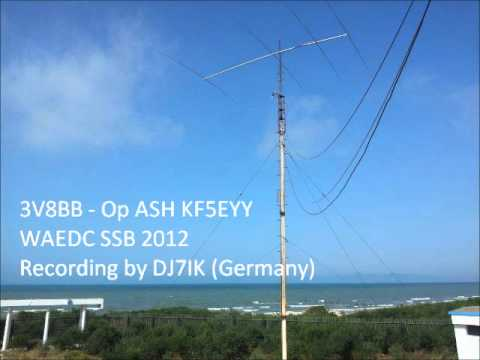 WAEDC SSB 2012 - 3V8BB as heard in Germany