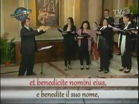 Coro Regionale della Calabria Walter Marzilli, direttore V Miskinis, Cantate Domino La Domenica con Benedetto XVI arte parola musica 23 06 12 YouTube2