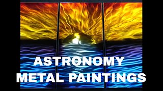 Astronomy Metal Paintings For Sale, Sun Moon Lunar Eclipse
