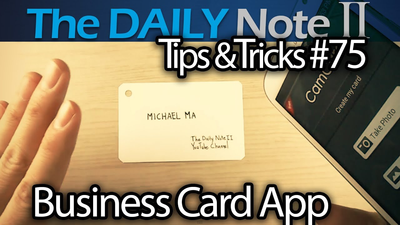 Samsung Galaxy Note 2 Tips & Tricks Episode 75 CamCard