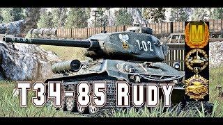 T34-85 RUDY#4 world of tank blitz aced gameplay 3800 DMG 6kills