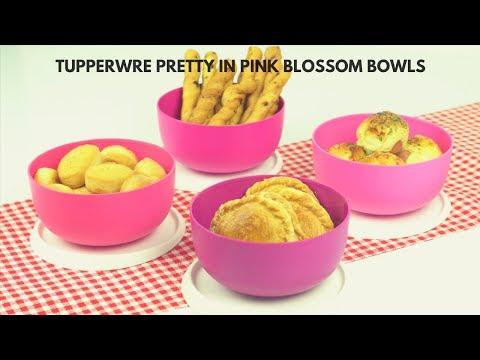 Tupperware Pretty In Pink Blossom Bowls