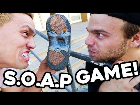 Game of S.O.A.P!   Sponsored Skaters VS Soap Shoes