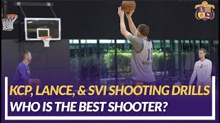 Lakers Nation Practice: KCP, Lance, Svi Do Some 3-point Shooting Post Practice