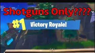 Is it really that hard to win with shotguns only? (FUNNY FORTNITE)