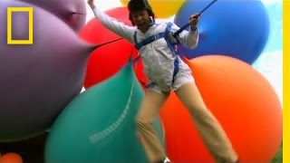 Lifting a Man with Helium Balloons? | I Didn