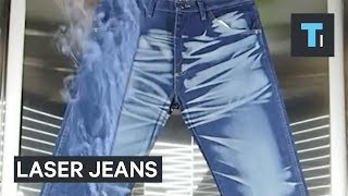This is the crazy way distressed jeans are made