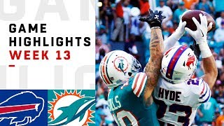 Bills vs. Dolphins Week 13 Highlights | NFL 2018