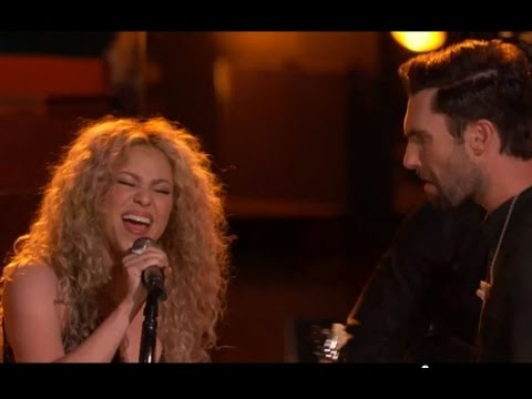 the Voice Shakira, Usher, Adam, Blake Perform with A Little Help From My Friends Top 3 Finals video