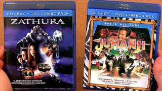 JUMANJI blu ray unboxing review and ZATHURA blu ray review