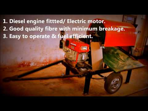 Mobile Fibre Extraction Machine- Diesel Engine and Electric Motor