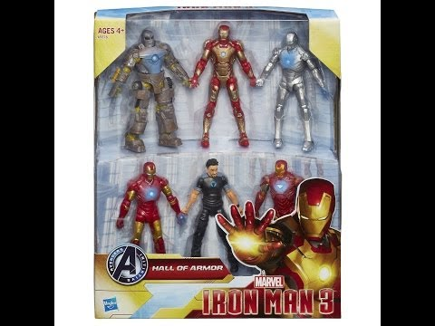 Hasbro Iron Man 3 Marvel Hall of Armor Collection HD Action Figure Review   www.TekSushi.com