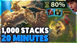 FASTEST 1,000 STACK'S IN HISTORY | URF NASUS FULL GAMEPLAY - BunnyFuFuu