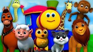 Bob o trem   O Som Dos Animais   Canções Para Crianças   Bob Animal Sound Song   Kids Tv Português
