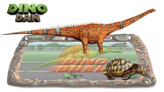 DINO DAN : DINO DUELS #47 - Diplodocus VS Tortoise - Make for Kids