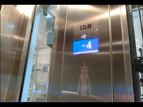 ThyssenKrupp MRL Glass Elevator @Dubai Airport, United Arabs Emirates