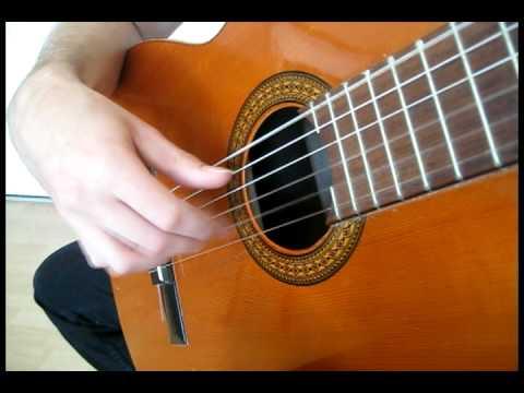 Francisco Tárrega classical guitar exercise - tremolo form