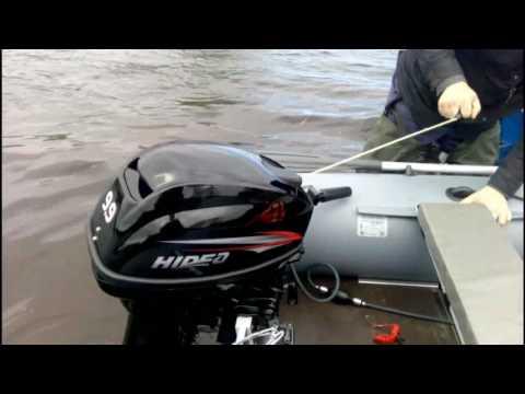обкатка лодочного мотора хидея 9.9 видео