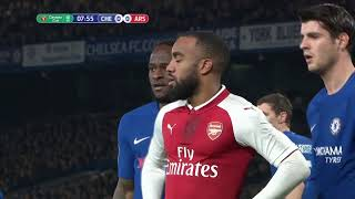 Chelsea Arsenal Carabao Cup Leg 1 January 10 2018