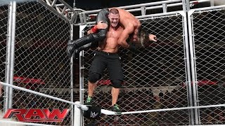 John Cenaට වැඩ වරදී .... John Cena vs. Seth Rollins - Steel Cage Match: Raw, December 15, 2014