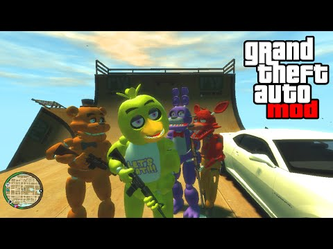 """FIVE NIGHTS AT FREDDY'S MOD!"" - GTA Mods & FNAF 3 Gameplay! (GTA IV PC)"