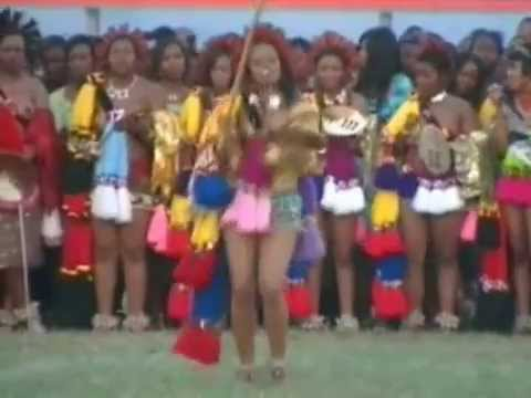 Hrh Inkhosatana Princess Sikhanyiso Of Swaziland Giya At The Umhlanga Reed Dance 2010 video