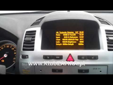 ZAFIRA B Tryb serwisowy (test mode)