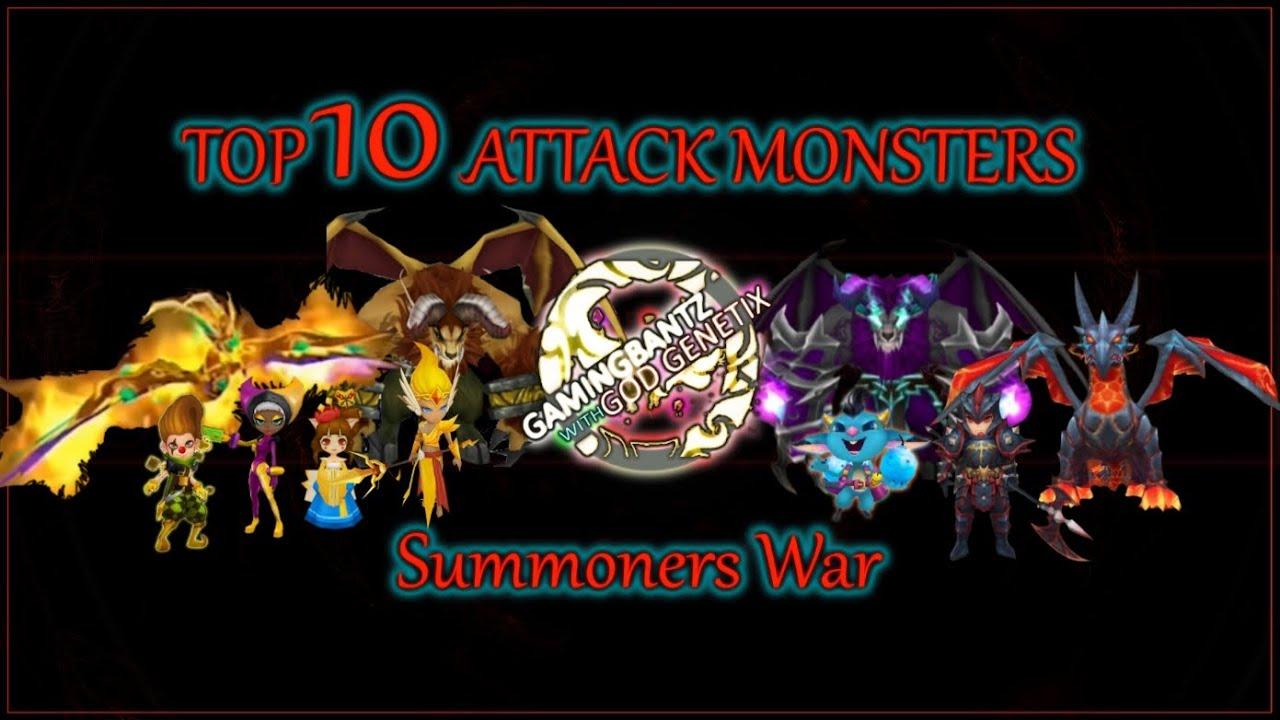 Summoners War Chart Summoners War Top 10 Attack