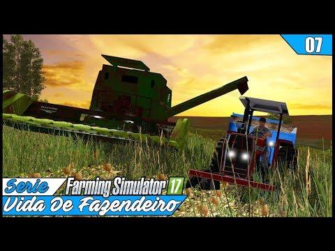 COLHEITA NOTURNA! VISIBILIDADE ZERO   FARMING SIMULATOR 17 #07   PT-BR  