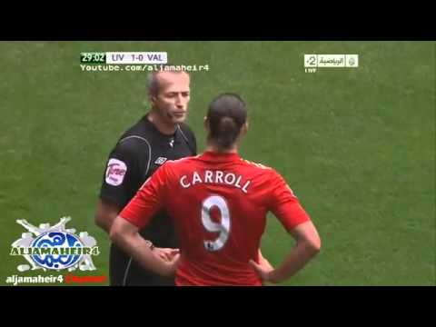 Andy Carroll has committed a foul criminal! Liverpool vs. Valencia, boxing match!