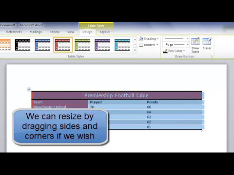 Computer Courses - Microsoft Office Word tutorials - Creating a Simple Table