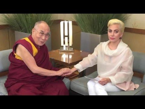 Lady Gaga's meeting Dalai Lama angers China