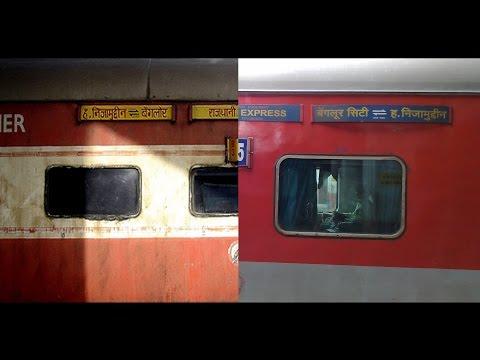 ICF and LHB versions - Bangalore Rajdhani Express : Birthday Special