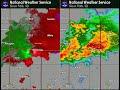 Radar Loop for Brief Tornado and Straight Line Wind Damage near Brookings, SD