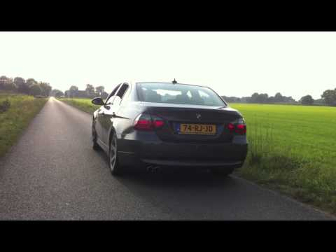 BMW 330i (E90) accelerations. sound.  BMW straight-six power