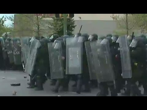 Baltimore protests turn violent