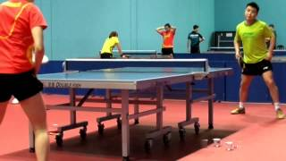 Trainning session of China Table Tennis Team in Dubai