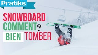 Initiation snowboard: Comment bien tomber