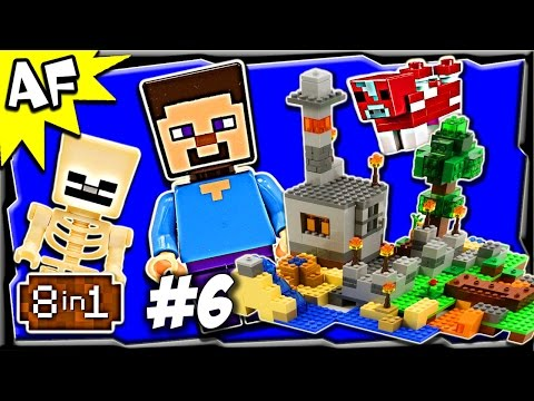 Lego Minecraft 21116 CRAFTING BOX Build #6 Animated Stop Motion Review