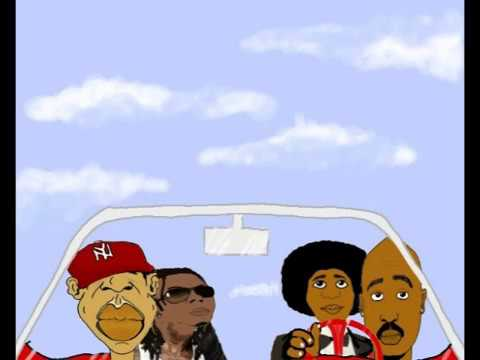Lil Wayne, Jay Z, Michael Jackson and Tupac Cartoon pt. 1 Music Videos